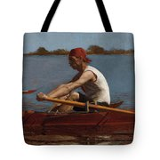 John Biglin In A Single Scull Tote Bag