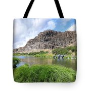 John Day River Landscape In Summer Portrait Tote Bag