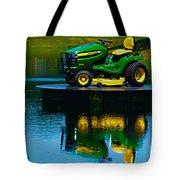 John Deere Mows The Water No 2 Tote Bag
