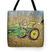 John Deere Tractor And The Scarecrow Tote Bag