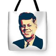 John F Kennedy Color Pop Art Tote Bag