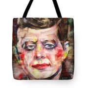 John F. Kennedy - Watercolor Portrait.3 Tote Bag