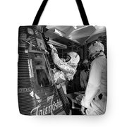 John Glenn Entering Friendship 7 Spacecraft Tote Bag by War Is Hell Store