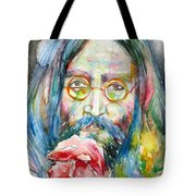 John Lennon - Watercolor Portrait.9 Tote Bag