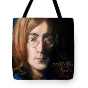 John Lennon - Wordsmith Tote Bag