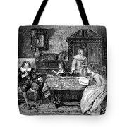 John Milton Dictating Paradise Lost Tote Bag