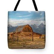 John Moulton Barn Sunrise Tote Bag