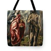 John The Baptist And Saint John The Evangelist Tote Bag