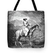 John Wayne At The Ready On Horseback Pa 01 Tote Bag