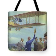 John William Alcock And Arthur Whitten Brown Who Flew Across The Atlantic Tote Bag