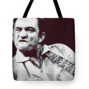 Johnny Cash Beer Cap Mosiac Tote Bag