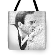 Johnny Cash God's Gonna Cut You Down Tote Bag