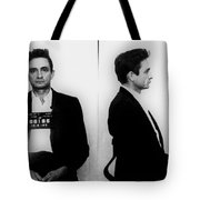 Johnny Cash Mug Shot Horizontal Tote Bag