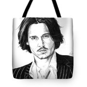 Johnny Depp Portrait Tote Bag