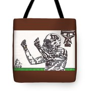 Johnny Manziel 10 Change The Play Tote Bag by Jeremiah Colley