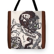 Johnny Manziel 5 Tote Bag by Jeremiah Colley