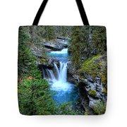 Johnston Canyon Falls Hike Lower Falls Tote Bag