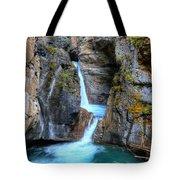 Johnston Canyon Falls Hike Upper Falls II Tote Bag