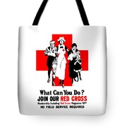 Join Our Red Cross Tote Bag