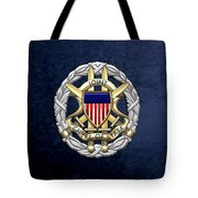 Joint Chiefs Of Staff - J C S Identification Badge On Blue Velvet Tote Bag