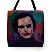 Joker Heath Ledger The Dark Knight Tote Bag