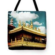 Jokhang Temple Fragment  Lhasa Tibet Artmif.lv Tote Bag