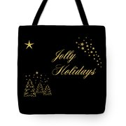 Jolly Holidays Gold Sparkle Tote Bag