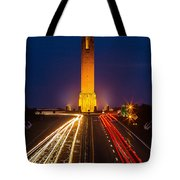 Jones Beach Pencil Light Trails Tote Bag
