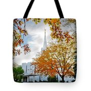 Jordan River Temple Tote Bag by La Rae  Roberts