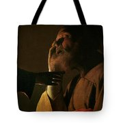 Joseph And The Angel Tote Bag by Georges de la Tour