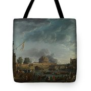 Joseph Vernet   A Sporting Contest On The Tiber At Rome Tote Bag