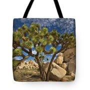 Joshua Tree And Blue Sky Tote Bag