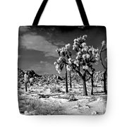 Joshua Trees In Snow Tote Bag