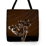Joshua Tree Night Lights Death Valley Bw Tote Bag