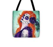 Joslyn Day Of The Dead Art Tote Bag