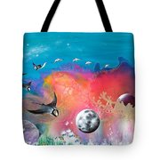 Journey To The Snow Coral Tote Bag