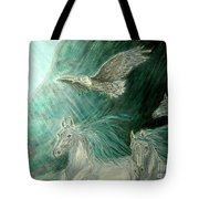 Journeyscape-out Of Darkness Tote Bag