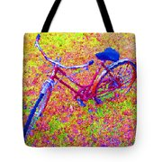 Joy, The Bike Ride Tote Bag