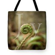 Joy Fiddlehead Tote Bag