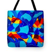 Joy Fish Abstract Tote Bag
