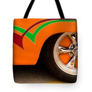 Joy Ride - Street Rod In Orange, Red, And Green Tote Bag