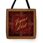 Joyeux Noel In Red And Gold Tote Bag