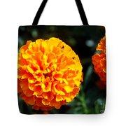 Joyful Orange Floral Lace Tote Bag