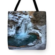 Johnston Canyon Winter Delight Tote Bag