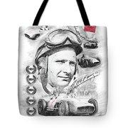 Juan Manuel Fangio Tote Bag