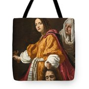 Judith Holding The Head Of Holofernes Tote Bag