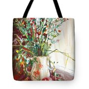 Jug With  Red Apple Tote Bag