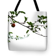 Juicy   A Tempting Photograph Of A Tasty Ripe Red Apple On A Tree  Tote Bag