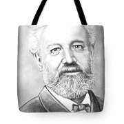 Jules Verne Tote Bag by Murphy Elliott