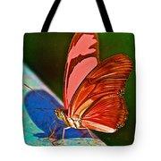 Julia Heliconian Butterfly In Iguazu Falls National Park-brazil Tote Bag